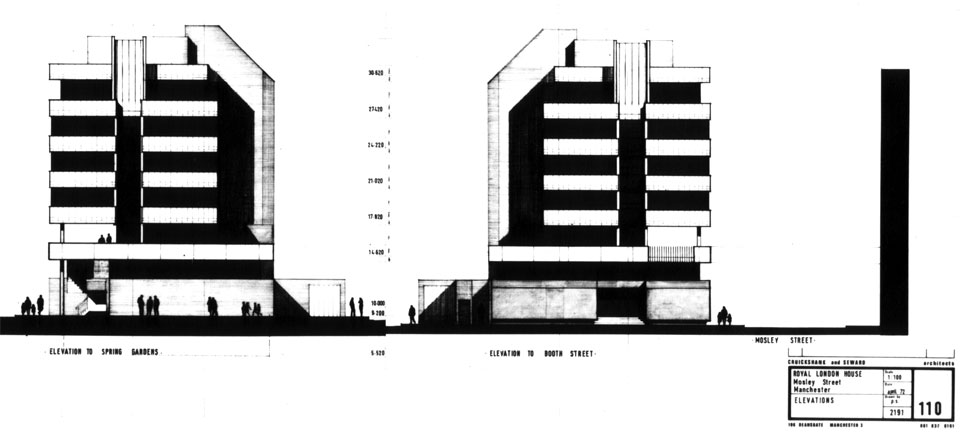 North and south elevations.