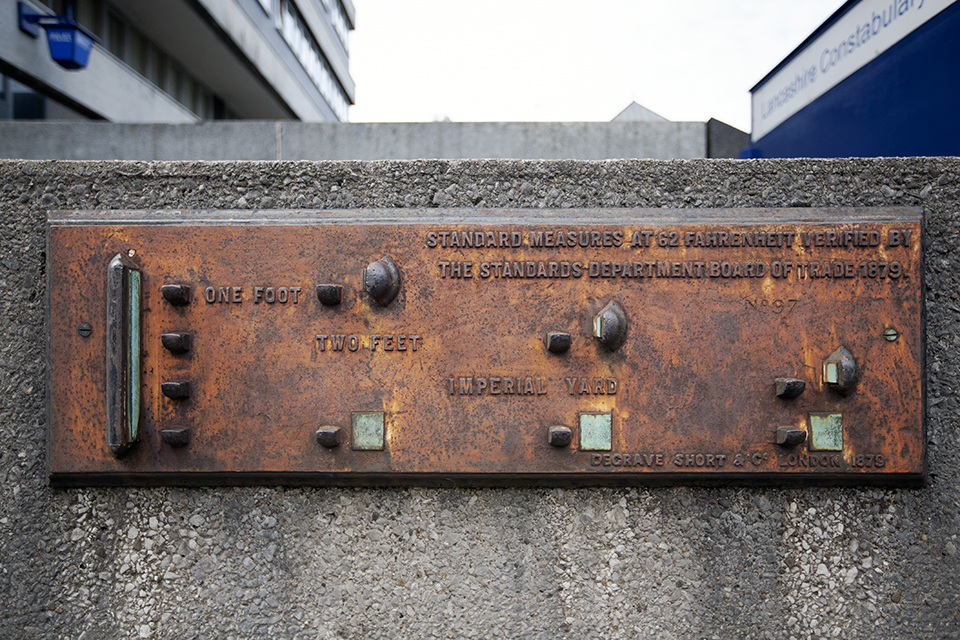 Weights and measures plaque from 1896.
