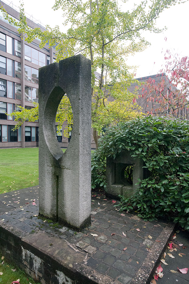 Sculpture in courtyard (artist unknown).