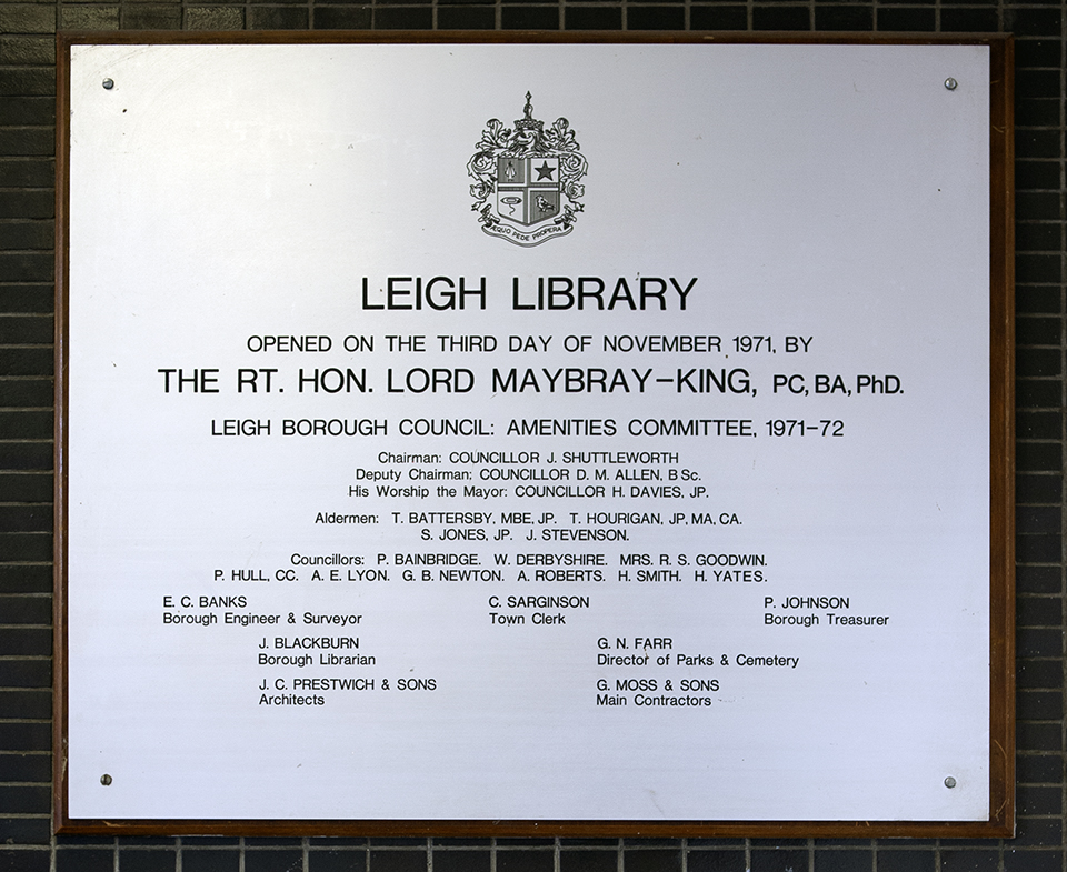 Commemorative plaque.
