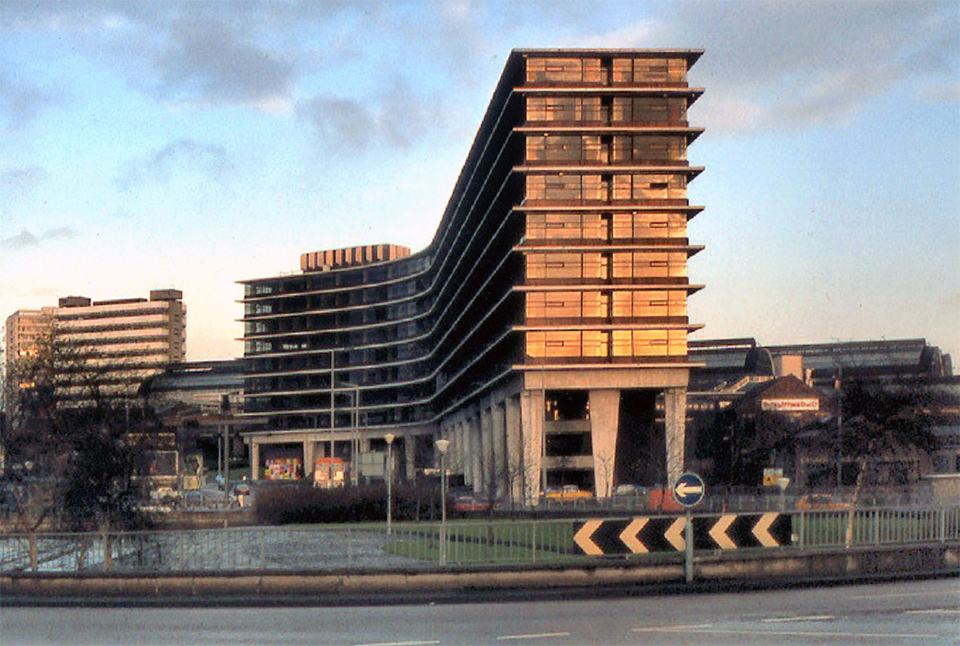 View from south, prior to the construction of the second phase of Mancunian Way