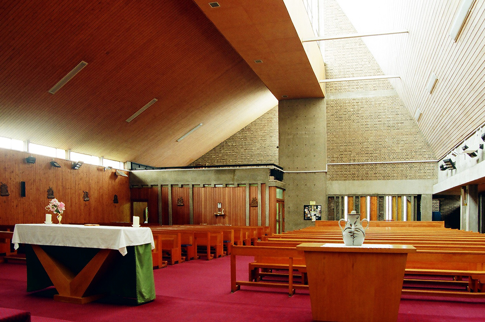 View from alter to confessionals and choir stall.