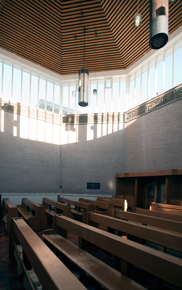 View across chapel to entrance.