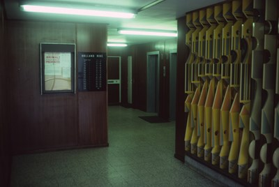 Entrance lobby in Holland Rise, 1987.