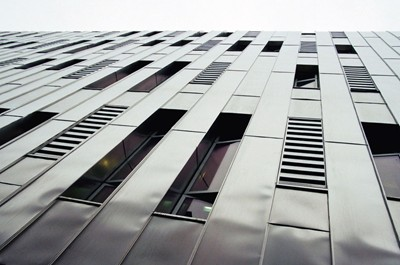 Stainless steel cladding to Ducie Street.
