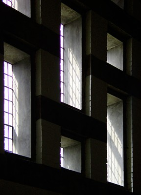 Windows and cast light.