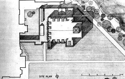 Site plan. Extract from wallsheet.