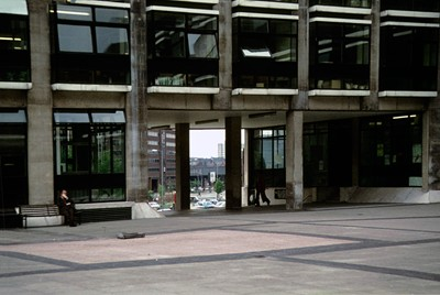 View through to Crown Square. Prior to extension to Crown Court.