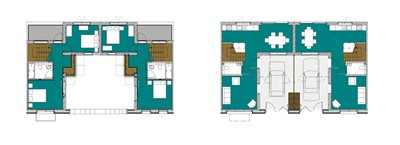 Typical floor plans.