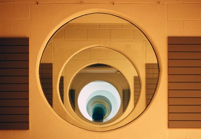 Interior portholes between rooms.