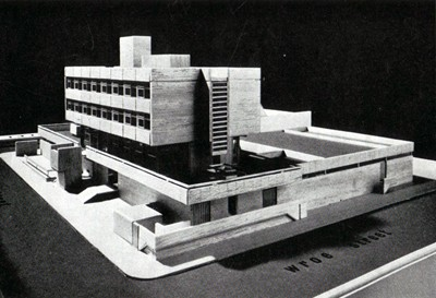 Early architectural model.