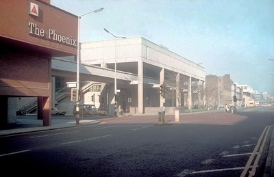 Phoenix nightclub and overbridge to RNCM.