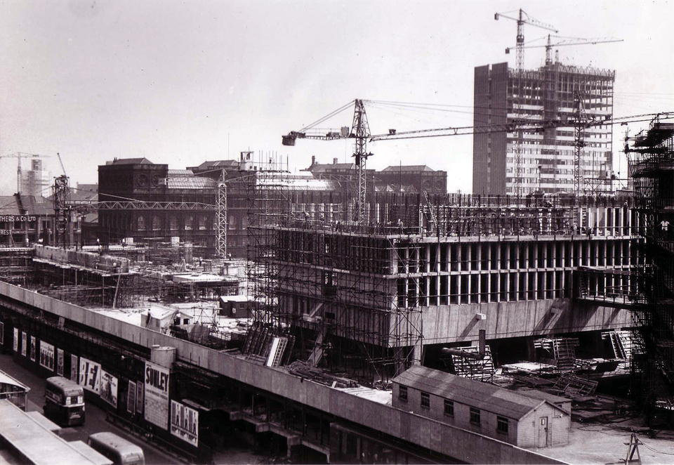 Construction. St. Andrew's House in background.