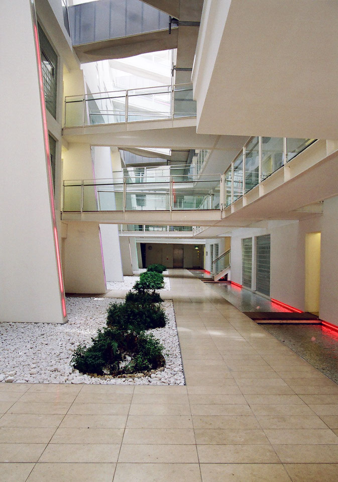 Interior. Ground floor atrium space.