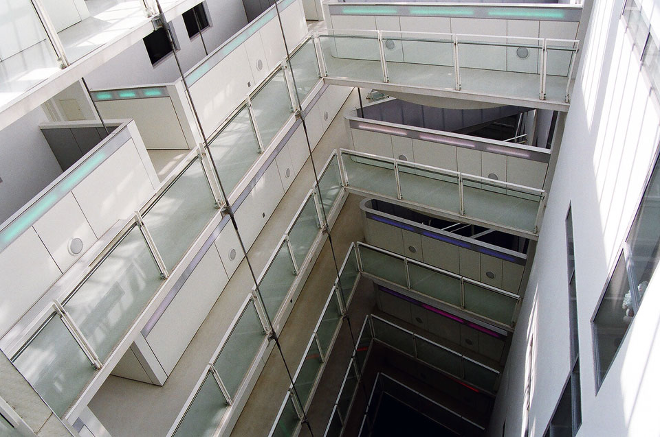 View down atrium.